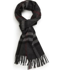 burberry giant check cashmere scarf in charcoal at nordstrom