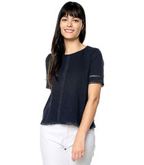 blusa azul navy paris district