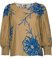 marty blouse blouse lange mouwen bruin just female