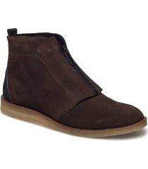 ankle boot shoes boots ankle boots ankle boots flat heel brun ilse jacobsen