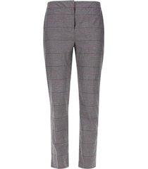pantalón chino a cuadros color negro, talla 14