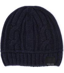 canada goose cap in blue woven wool