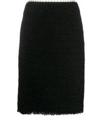giambattista valli pearl-embellished pencil skirt - black