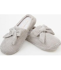 zapatilla asa slippers gris claro bbz barbizon