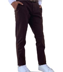 pantalon dril café oscar de la renta b8pn2904-coff