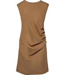 india round-neck dress knälång klänning brun kaffe