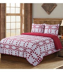 country living holiday ring quilt 3 piece set, twin