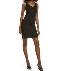 women's vero moda polly rib tank dress, size medium - black