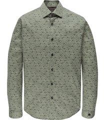 cast iron csi207632 6127 long sleeve shirt print on stretch poplin green
