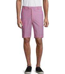 g/fore men's seersucker golf shorts - pink - size 30