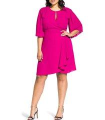 plus size women's city chic jolie faux wrap dress