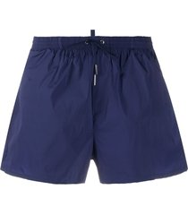 dsquared2 icon drawstring-waist swim shorts - blue