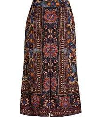 annie mosaic-print skirt