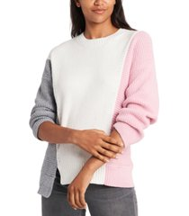 1.state colorblocked sweater