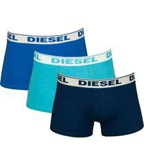 diesel shawn 3-pak boxershorts blauw