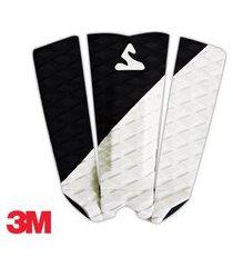 deck antiderrapante prancha surf pro soul fins fita 3m - 21 preto - branco