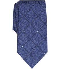 perry ellis men's burr classic geo grid tie