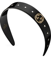 gucci gg star headband in black at nordstrom