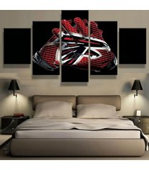 5 pcs atlanta falcons gloves canvas prints painting wall art picture home decor