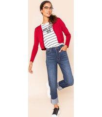 women's harper heritage cuffed straight leg jeans in denim by francesca's - size: 30