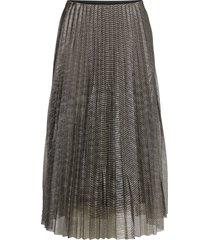 amy skirt knälång kjol grå becksöndergaard
