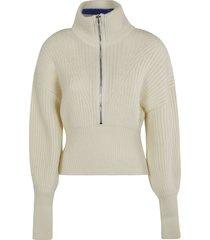 philosophy di lorenzo serafini balloon-sleeved high neck knit sweater