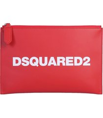 dsquared2 designer handbags, pouch with logo