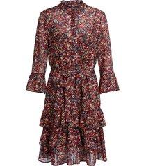 jurk met bloemenprint annyck  rood