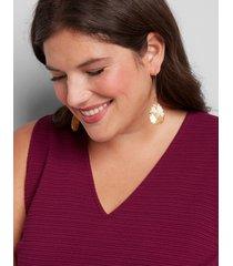 lane bryant women's faceted teardrop wire earrings onesz golden spice