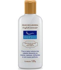 nupill óleo de lavanda redutor volume e fixador para cabelos 120g