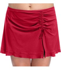 profile by gottex plus size wild thing side slit skirted swim bottoms women's swimsuit