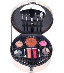 maleta de maquiagem fenzza fz40005 make up chic collection bronze - tricae