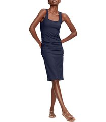women's michael stars sonya square neck shirred dress