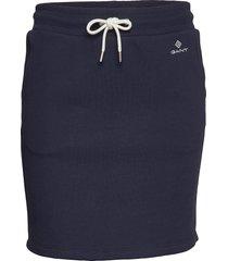 lock up sweat skirt kort kjol blå gant