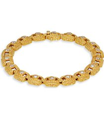 goldplated sterling silver & cubic zirconia bangle bracelet