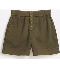 lou & grey brushed twill snap front shorts
