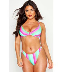 mix & match stripe underwired bikini top, multi