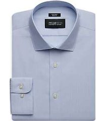 awearness kenneth cole blue textured slim fit dress shirt