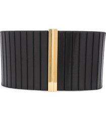 marni ribbed wide belt - black
