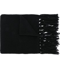 ami fisherman's rib scarf - black