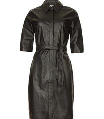 faux leather jurk baroon  zwart