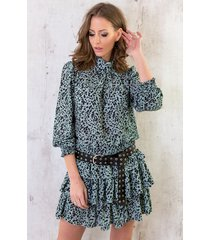 leopard blouse mint