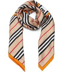 icon stripe logo ring silk scarf