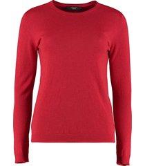 weekend max mara crew-neck cashmere sweater
