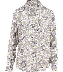 gold hawk paisley silk shirt