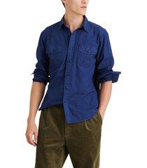alex mill button-up field shirt, size medium in navy at nordstrom