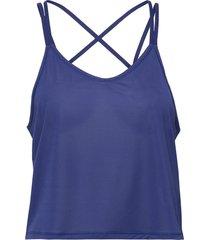 studio graphene strappy tank t-shirts & tops sleeveless blå puma