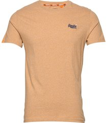 ol vintage embroidery tee t-shirts short-sleeved orange superdry