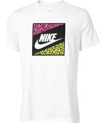 camiseta nike sportswear nsw aqua futu branca - kanui