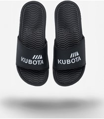 klapki kubota basenowe pro czarne białe logo